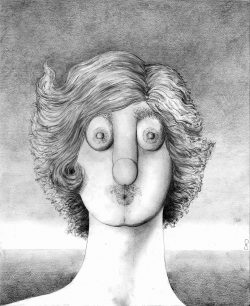 Pencil based on a Magritte 2011